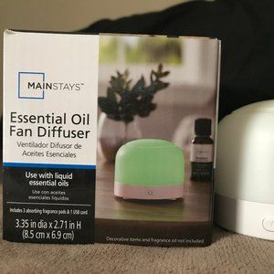 Mainstays Portable Travel Fan Diffuser in White Co